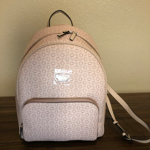 how to get fashion styles in stock Guess Edmund Light Rose Back Pack NWT